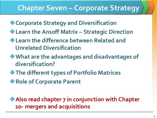 re the differences between diversification strategy Components of any diversification strategy, ie the degree of differences between these markets hence, the degree of diversification is generally.