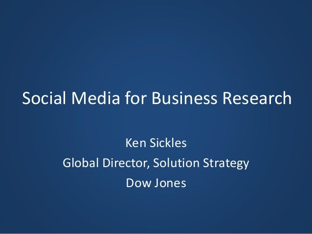 Social Media's Role in Business Research