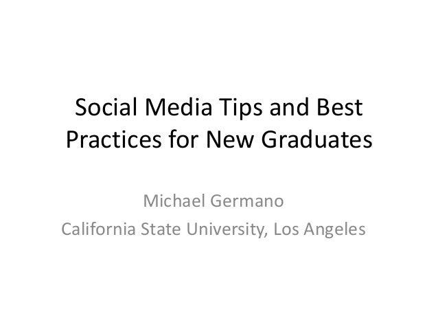 Social Media for New Grads