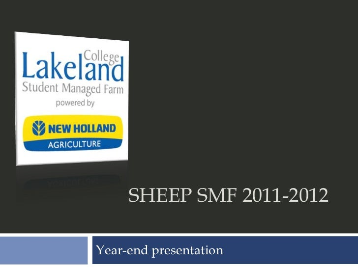 SHEEP SMF 2011-2012Year-end presentation