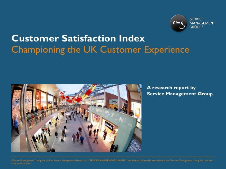SMG customer satisfaction index UK