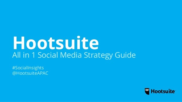 hootsuite social media strategy pdf