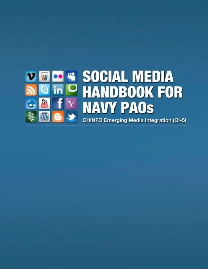 Social Media Handbook for Navy PAOs