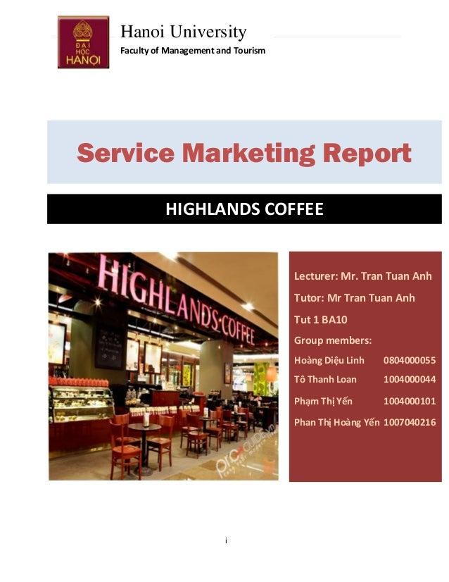 Marketing dịch vụ - Highland Coffee