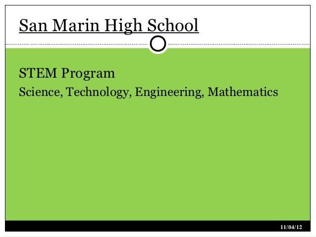 San Marin High SchoolSTEM ProgramScience, Technology, Engineering, Mathematics                                            ...
