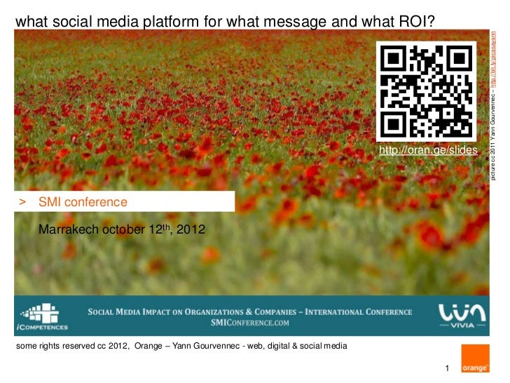 what social media platform for what message and what ROI?                                                                 ...