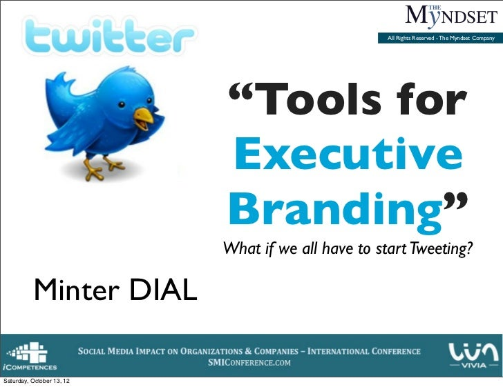 Tools for Exective Branding - Why and how to do your personal branding as an Executive