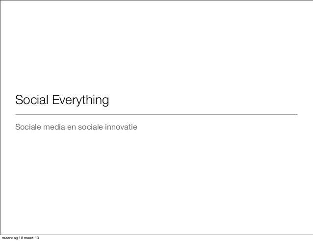 SMID 13 sociale innovatie social media