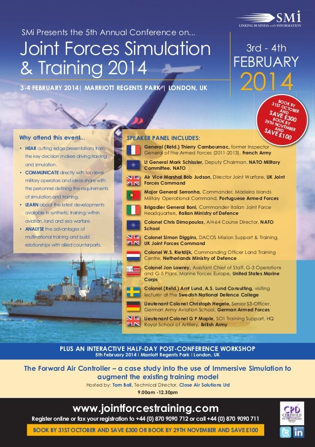 SMi Group's 5th annual joint forces simulation & training conference