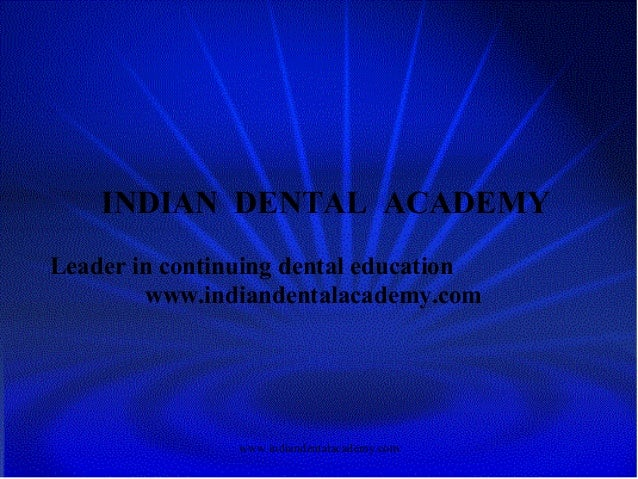 Smile design /certified fixed orthodontic courses by Indian dental academy