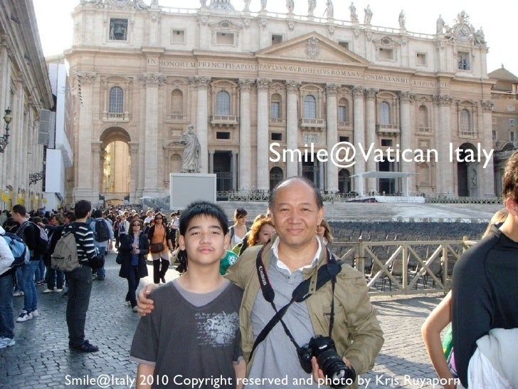 Smile@vatican in italy