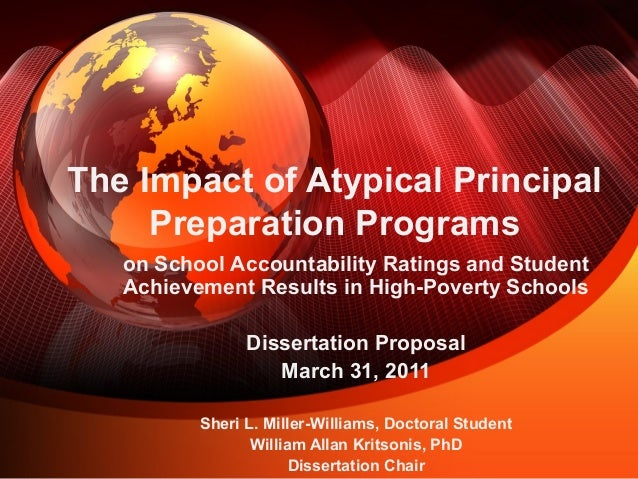 Dr. William Allan Kritsonis, Dissertation Chair for Sheri L. Miller-Williams, Dissertation Proposal Defense, PPT.