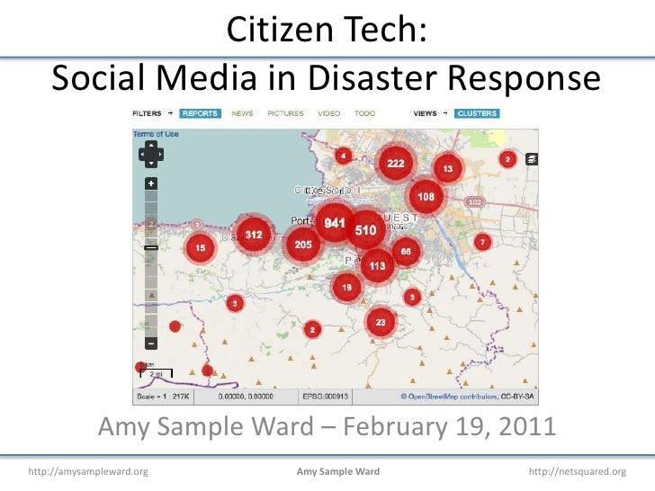 Citizen Tech:Social Media in Disaster Response<br />Amy Sample Ward – February 19, 2011<br />