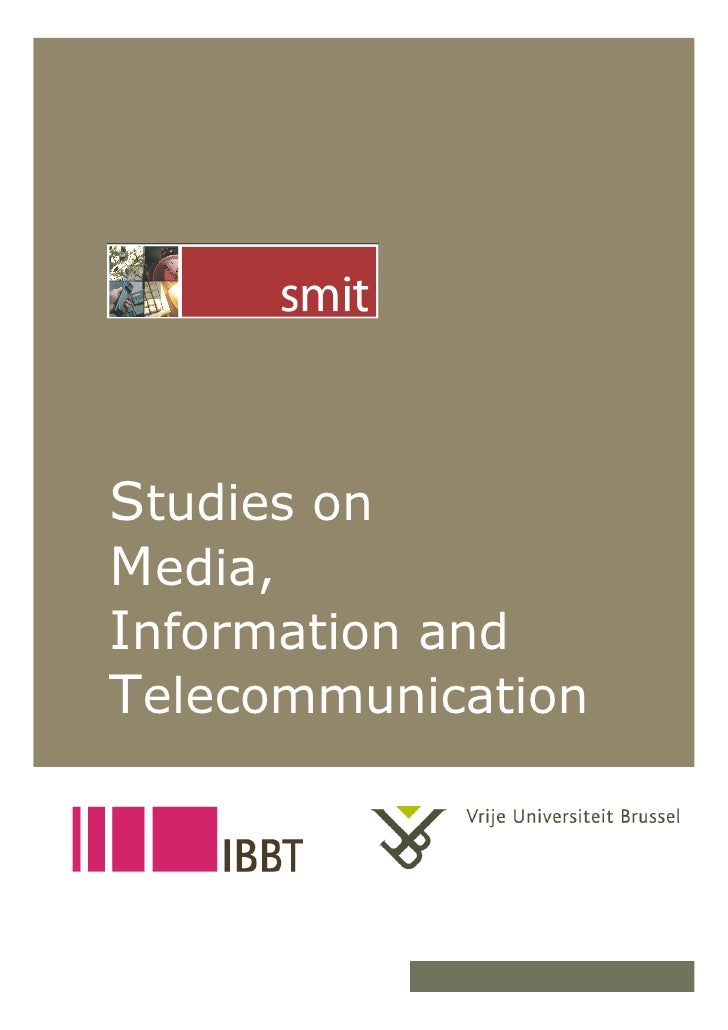 Studies on      Media,      Information and      Telecommunication   12/18/07           1