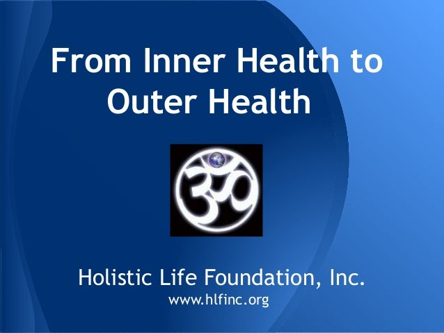 "Ali Smith - ""From Inner Health to Outer Health"""