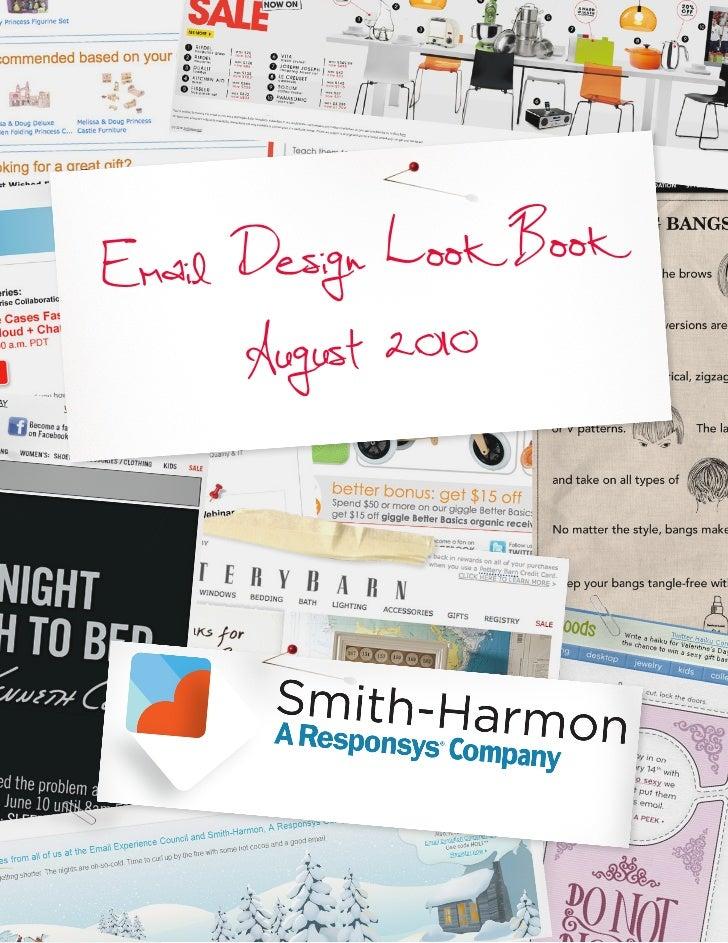 Email Desig n Look Book      August 2010