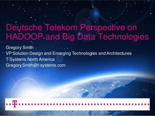 Deutsche Telekom on Big Data