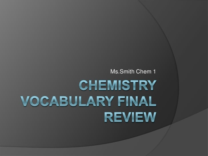 Ms.Smith Chem 1