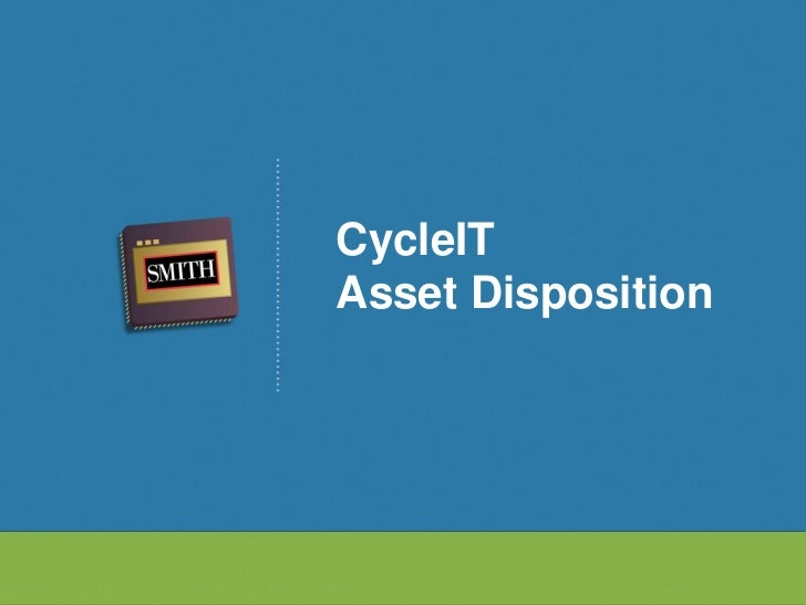 CycleITAsset Disposition