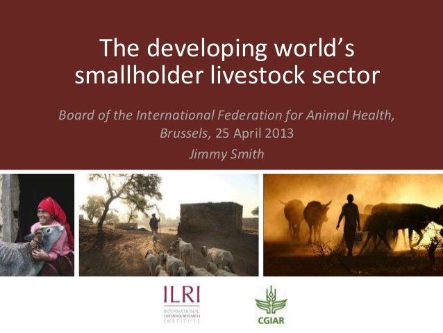 The developing world's smallholder livestock sector