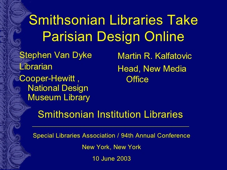 Smithsonian Libraries Take Parisian Design Online