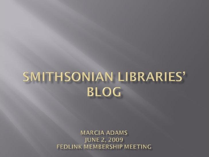 Smithsonian Libraries Blog