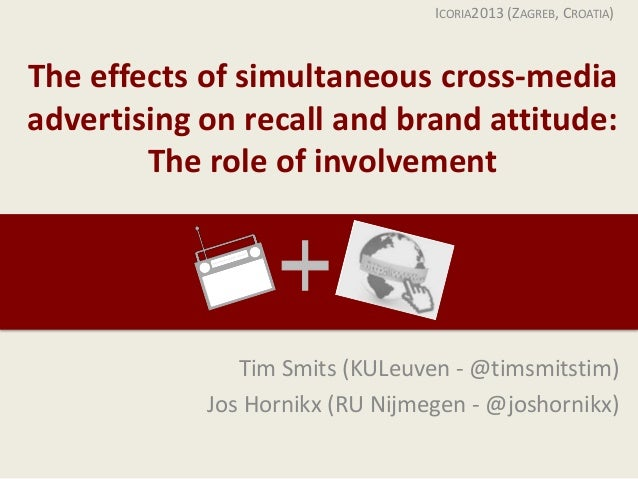 The effects of simultaneous cross-media advertising on recall and brand attitude: The role of involvement Tim Smits (KULeu...