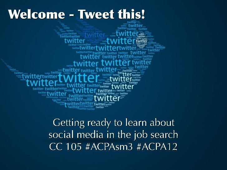 Convention Institute:Social Media in Student Affairs              Social Media's Impact                on Your Job Search ...