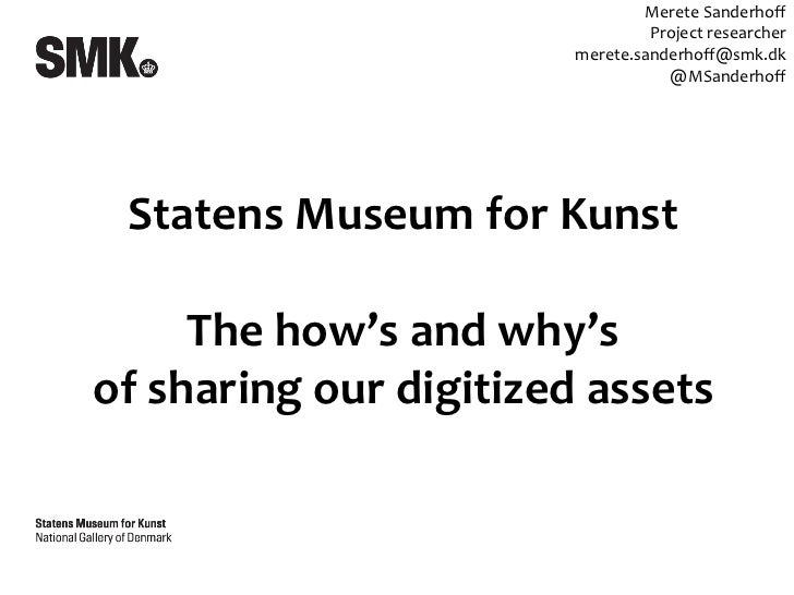 The how's and Why's of sharing at SMK 11052012