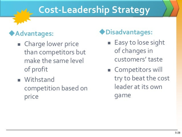 costco cost leadership strategy What are the chief elements of costco's strategy how good is the strategy the five p's for strategy: plan, ploy, pattern, position, and perspective: costco accomplishes its business model with a low-cost leader strategy that strives to be the overall low-cost provider of a product or service that appeals to a.