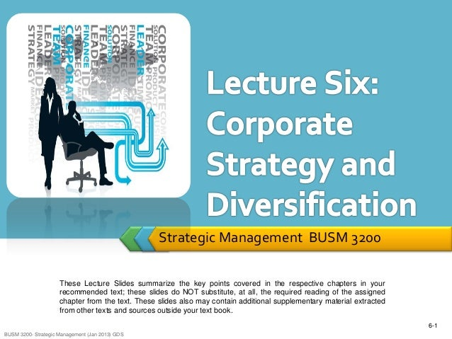 Corporate diversification strategy