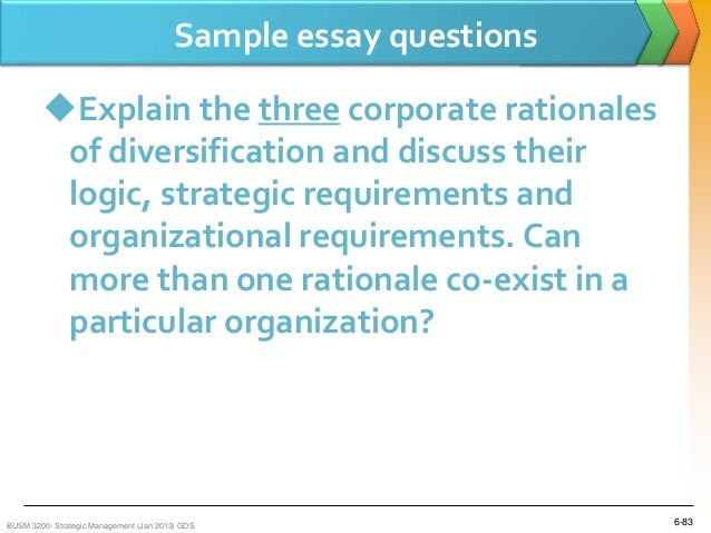 business strategy essay question If this essay isn't quite what you're looking for, why not order your own custom business essay, dissertation or piece of coursework that answers your exact question.
