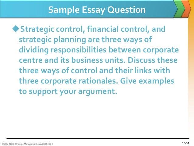 questions on strategic management