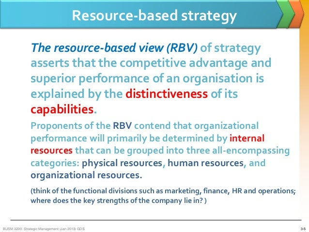 the resource based view of the firm rbv essay