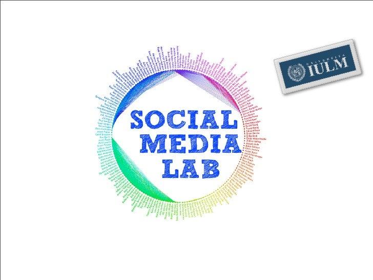 Social Media Lab Launch - 10 02 09 IULM