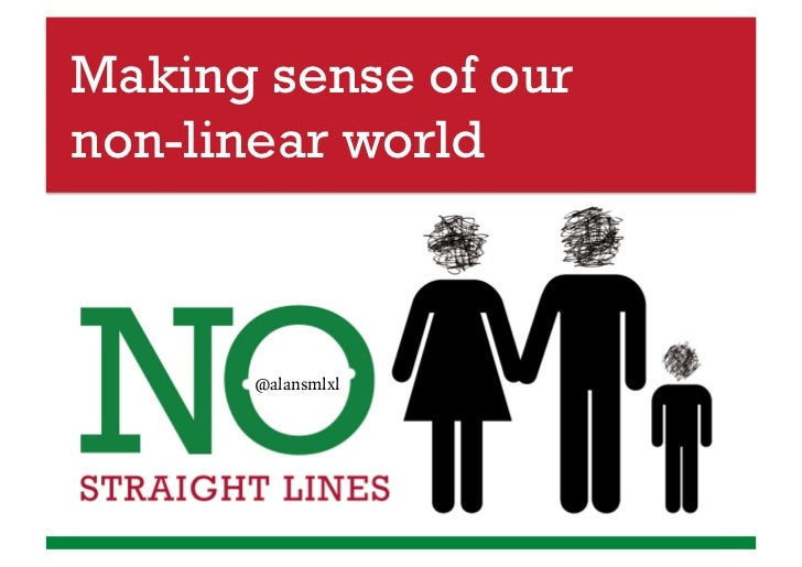 Making sense of ournon-linear world      @alansmlxl