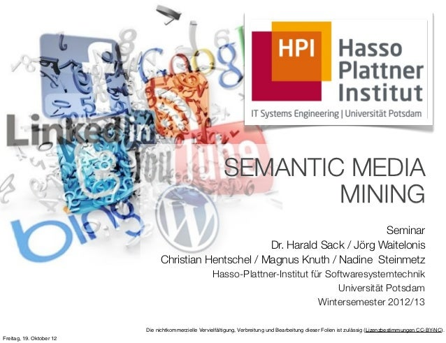 Seminar Semantic Media Mining - Kickoff
