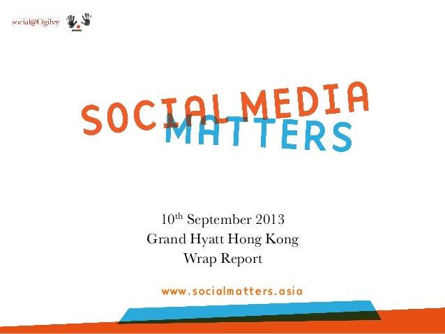 Social Media Matters 2013: It's a wrap!