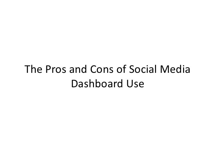 The Pros and Cons of Social Media Dashboards - Social Media Marketing