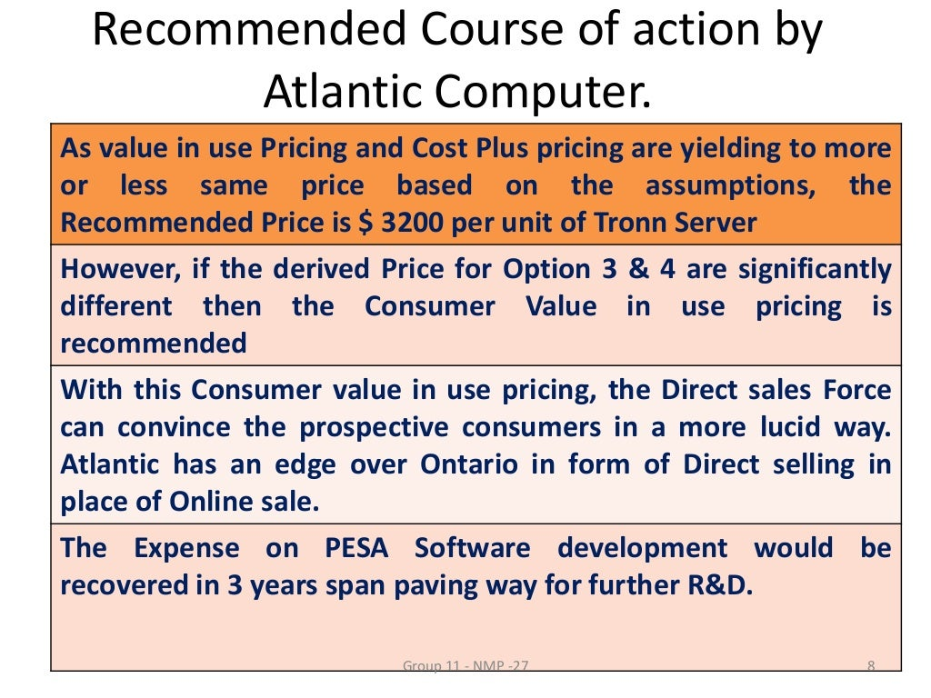atlantic computer a bundle of pricing options For the exclusive use of b wang, 2015 2078 may 28, 2007 neeraj bharadwaj john b gordon atlantic computer: a bundle of pricing options i overview on an unseasonably cold afternoon in.