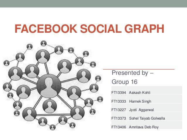 FACEBOOK SOCIAL GRAPH             Presented by –             Group 16             FT13394 Aakash Kohli             FT13333...
