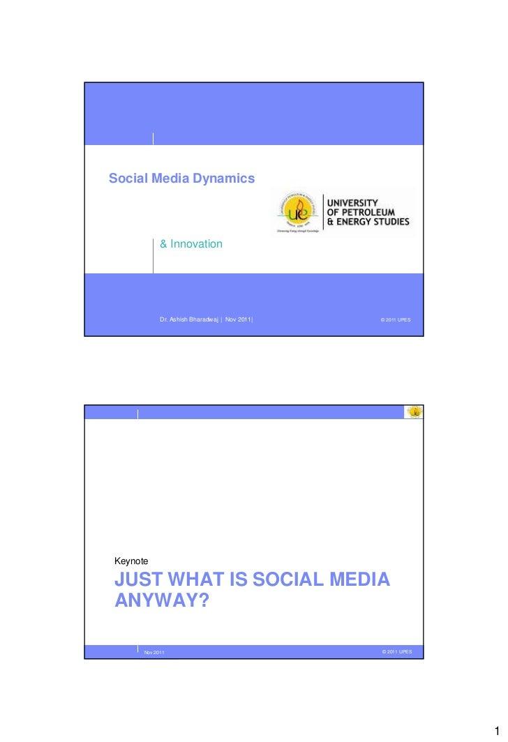 Social Media Dynamics and Innovation
