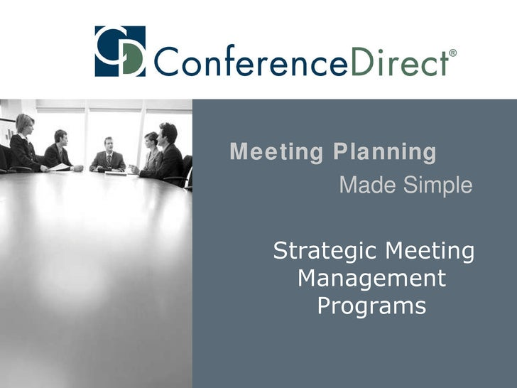 Strategic Meeting Management Programs Meeting Planning   Made Simple