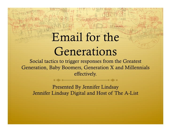 Email For The Generations #SMMSF