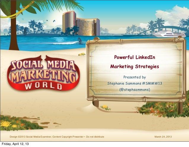 Powerful LinkedIn                                                                                            Marketing Str...