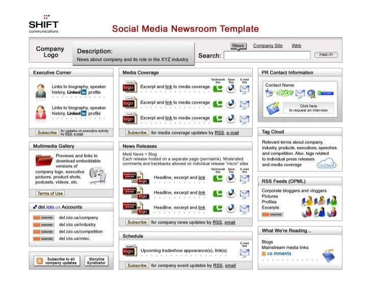 Social Media Newsroom Template