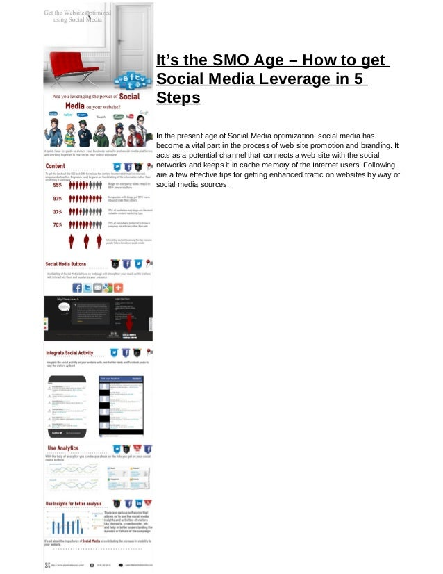 It's the SMO Age – How to getSocial Media Leverage in 5StepsIn the present age of Social Media optimization, social media ...