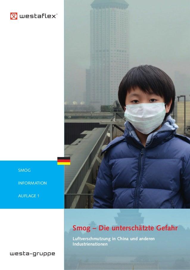 Smog – Die unterschätzte Gefahr Luftverschmutzung in China und anderen Industrienationen SMOG INFORMATION AUFLAGE 1