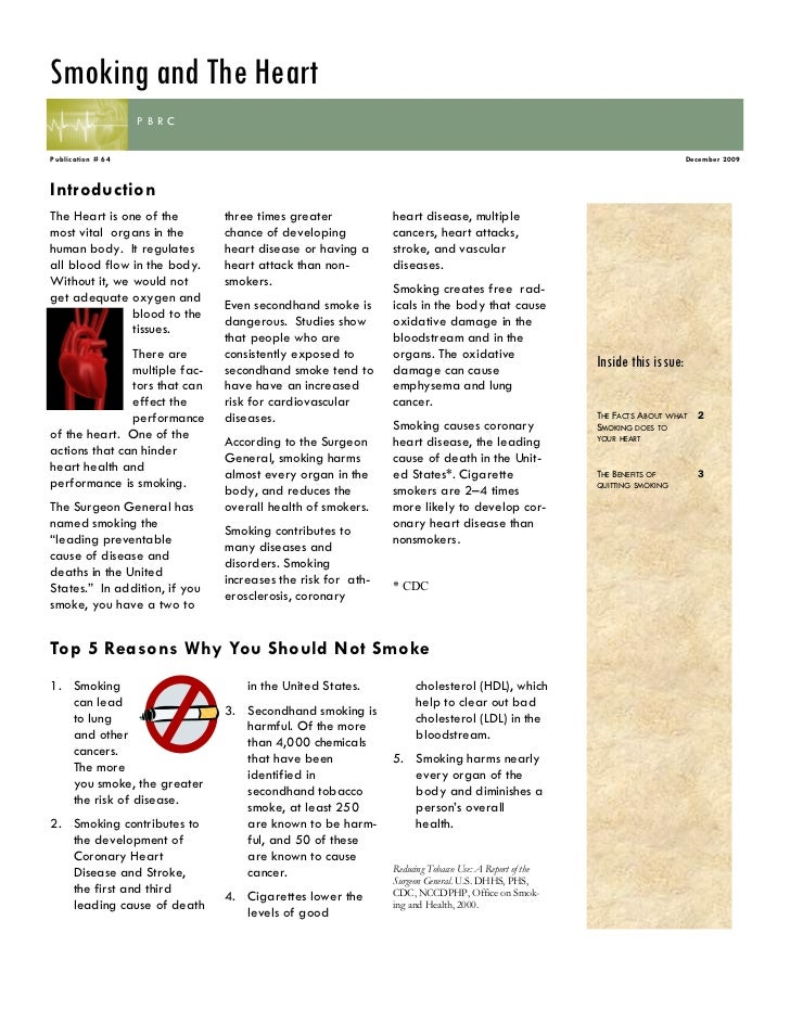 Smoking and the heart newsletter