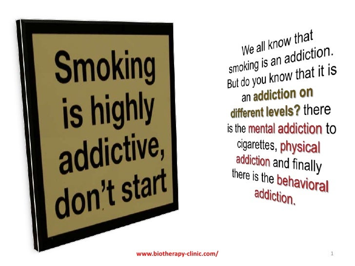 We all know that smoking is an addiction. But do you know that it is an addiction on different levels? there is the mental...